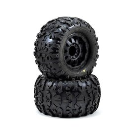 "Proline Racing Rock Rage 3.8"" Traxxas Style Bead All Terrain Truck Tires, Mounted"