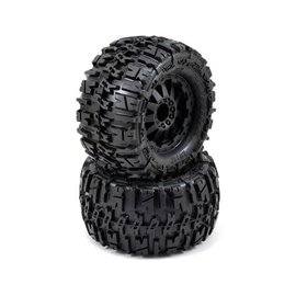 Proline Racing Trencher 2.8 Tires Mounted on F-11 Black Rear Wheels (2)