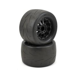 "Proline Racing Prime 2.8"" Tires on F-11 Black Rear Wheels (2)"