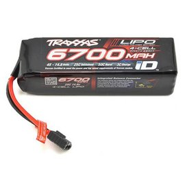 Traxxas Power Cell LiPo 14.8V 4-Cell 6700mAh 25C Battery with iD Connector