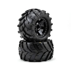 Proline Racing Masher 2.8 Tires Mounted on Desperado Black Wheels (2)
