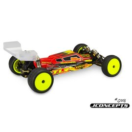 J Concepts JCO0318L S2-TLR 22 4.0 Clear Body w/ Aerowing, Lightweight