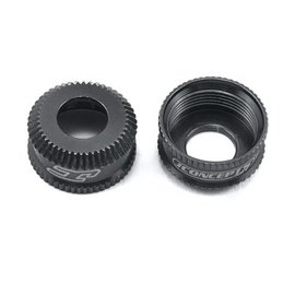 J Concepts Fin, 12mm V2 Shock Bottom Cap, Black (2)
