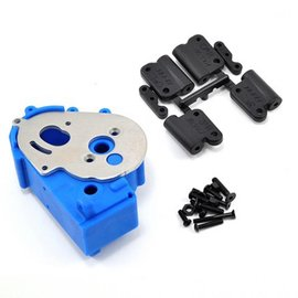 RPM R/C Products Hybrid Blue Gearbox Housing & Rear Mounts for 2wd Vehicles