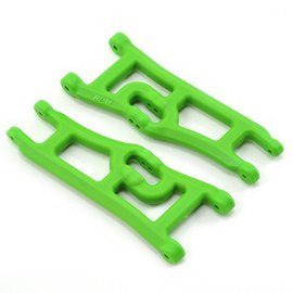 RPM R/C Products Green Wide Front A-arms for e-Rustler & Stampede 2wd