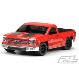 Proline Racing PRO3457-00 Chevy Silverado PRO-Touring Clear Body for SC Trucks