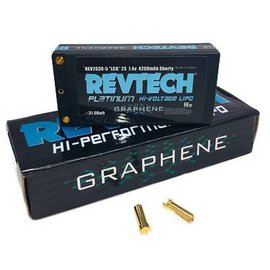 "Trinity REV2030-5  2S 7.4V 4200MAH 110C LCG SHORTY ""GRAPHENE"" Lipo HI-Voltage Pack With 5MM Bullets"
