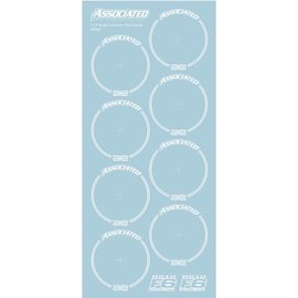 Team Associated ASC8692 RC10F6 Tire Decals, White