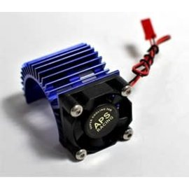 APS Racing Blue APS Motor Heatsink Ver.2 w/Super Cooling Side Fan for 540 Motor