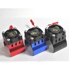 APS Racing APS91146RV2 Red APS Motor Heatsink W/High Power Top Fan For 540 Motor
