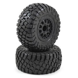Proline Racing BFGoodrich Baja T/A KR2 M2 SC 2.2/3.0 Tires, Mounted on Black Renegade Wheels for Slash, Slash 4x4