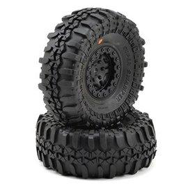 "Proline Racing Interco TSL SX Super Swamper XL 1.9"" G8 Tires Mounted on FaultLine 1.9"" Black/Black Bead-Loc Wheels"