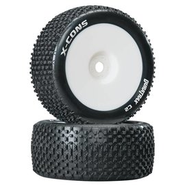 Duratrax X-Cons 1/8 Truggy Tire C2 Mounted Zero Offset (2)