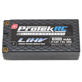 Protek RC 6100mAh HV Shorty 2S 100C 7.6V Lipo Battery