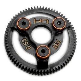 HOT RACING HRASTE873  Orange Steel Spur Gear 48P 73T Slash