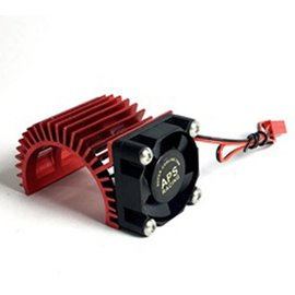 APS Racing Red APS Motor Heatsink Ver.2 w/Super Cooling Side Fan for 540 Motor