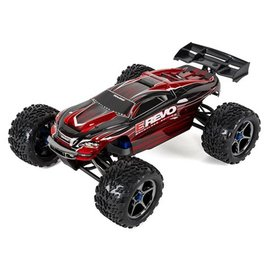 Traxxas TRA56086-4-Red Red E-Revo Brushless 4WD Monster Truck, RTR w/ TQi 2.4GHz