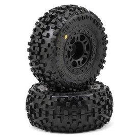 "Proline Racing Badlands SC 2.2""/3.0"" M2 Tires Mounted on Split Six Wheels (2), fits Slash Rear, Slash 4x4, Blitz"