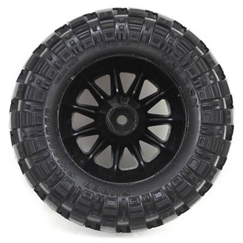 proline racing pro10110 14 interco tsl sx super swamper 28 tires mounted on f