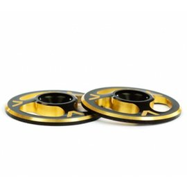 Avid RC Triad Wing Buttons Dual Black / Gold M3 (2)
