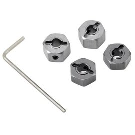 STRC Gun Metal 12mm Aluminum Lock Pin Style Wheel Hex Set (4)