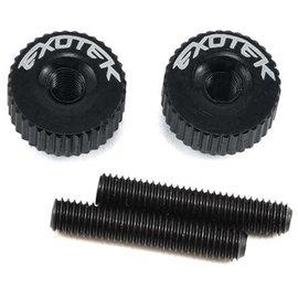 Exotek Racing Black Twist Nuts For M3 Thread