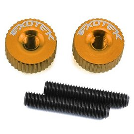 Exotek Racing EXO1191OR Orange Twist Nuts For M3 Thread