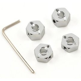 STRC Silver 12mm Aluminum Lock Pin Style Wheel Hex Set (4)
