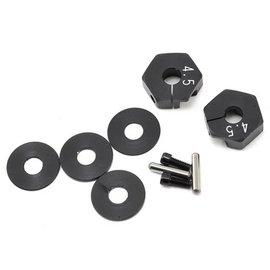 Yokomo B7-011NB  +4.5mm Clamping Wheel Hex Hub w/Spacers (2)