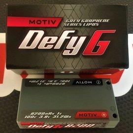 MOTIV DEFY Grey Graphene Pro Li-Po 1cell, 3.8V, 8200mah, 100C (12th Mod and Stock)
