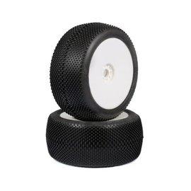 AKA Racing 1/8 Truggy EVO Gridiron Soft PreMount on White Wheel (2)
