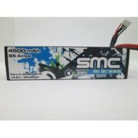SMC SMC4585-4S1PD  True Spec Premium 14.8V 4500mAh 85 Amps/90C Lipo w/Deans Plug