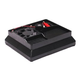 Integy Black Car Stand W/ Swivel Base & 7.2V Cooling Fan