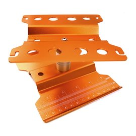 Integy Orange Universal Car Stand Workstation For 1/10 Size (140X136X100MM)