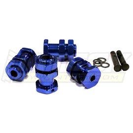 Integy T8014BLUE Blue Billet Extended Wheel Hub 17MM Hex For 1/10 Slash 2WD, Stampede 2WD, Rustler, Bandit