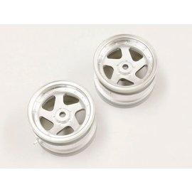 Kyosho Satin/Chrome 43mm Wheels (2pcs.)