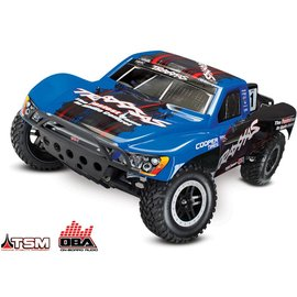 Traxxas TRA58076-24BLUE Slash 1/10 VXL 2WD Brushless S.C Race Truck, w/ TSM and OBA