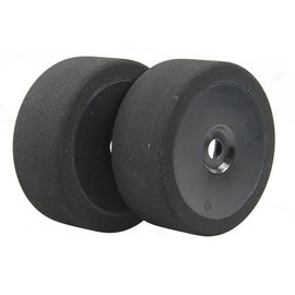 BSR BSRC8030-B 1/8 30 Shore Mounted GT Foam Tire On Black Dish Wheels (2)