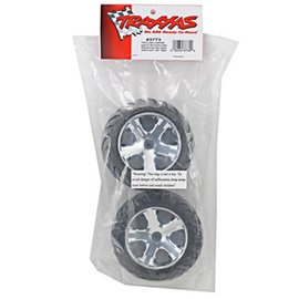 Traxxas TRA3773 2.8 Anaconda Tires on All Star Chrome Wheels (2)