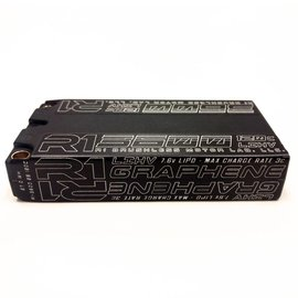 R1wurks R1LCG36002S120C  R1 3600mAh 120C 7.6V 2S LiHV  LCG Graphene Shorty Lipo Battery