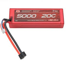 Venom Racing 7.4V 20C 2S 5000MAH Hard Case Lipo Battery Universal Plug