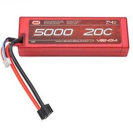 Venom Racing 7.4V 20C 2S 5000MAH Hard Case Lipo Battery Universal Plug