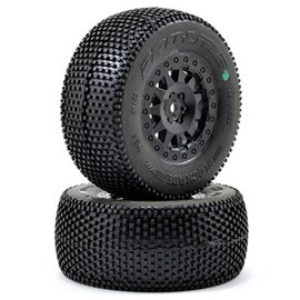 "Proline Racing PRO10109-13 Blockade 3.8"" Tires Mounted on F-11 Black 1/2"" Offset 17mm Wheels"