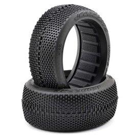 J Concepts JCO3132-02  Green Super Soft Triple Dees 1/8 Buggy Tires (2)