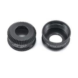 J Concepts JCO2492-2  Fin, 12mm V2 Shock Bottom Cap, Black (2)