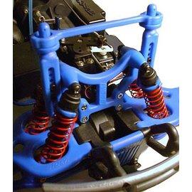 RPM R/C Products RPM80165 T-Maxx & E-Maxx Shock Tower & Body Mounts-Blue