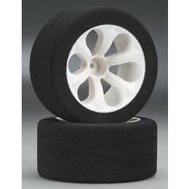 JACO JAC2040 1/10 Pink Front Foam Tires Mounted