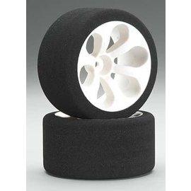 JACO JAC2040LP 1/10 Low Profile Pink Front Foam Tires Mounted