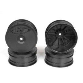 DE Racing DERSB4A4B Speedline Buggy Wheels, Black, Front, for B64/B64D and TLR 22 3.0/4.0 (4pcs)