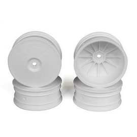DE Racing DERSB4A4W Speedline Buggy Wheels, White, Front, for B64/B64D and TLR 22 3.0/4.0 (4pcs)